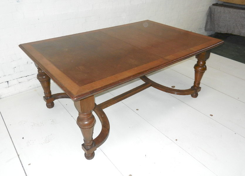 Picture of: Antique dining table makeover
