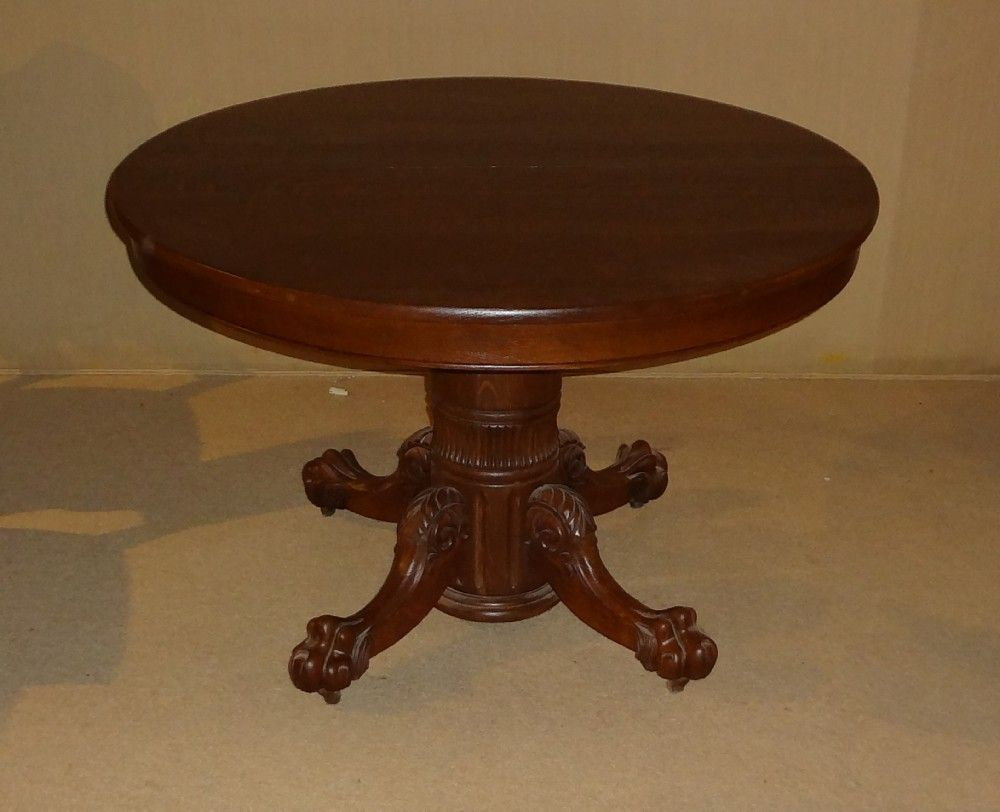 Picture of: Round antique dining table