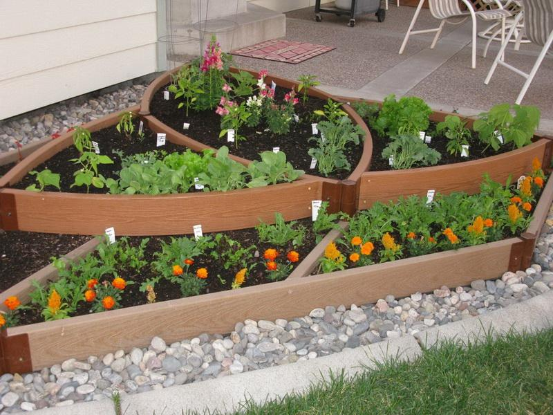 Picture of: Unique Raised Vegetable Garden Layout