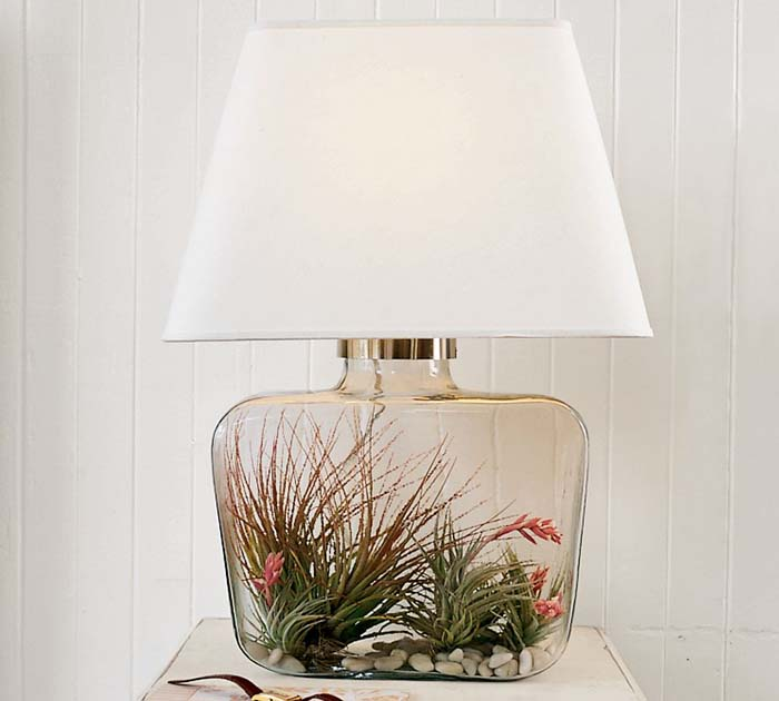 Image of: Bedroom Lights Modern Glass Table Lamps