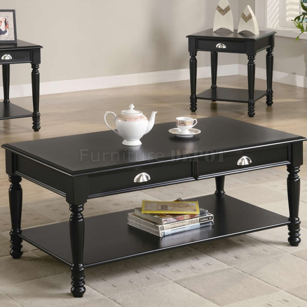 Image of: Coffee table sets cheap