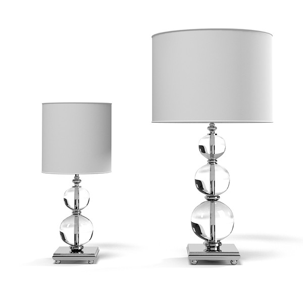 Image of: Crystal Glass Table Lamps