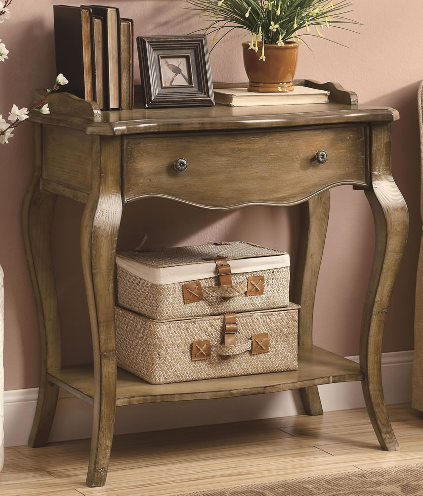 Image of: Entryway tables antique