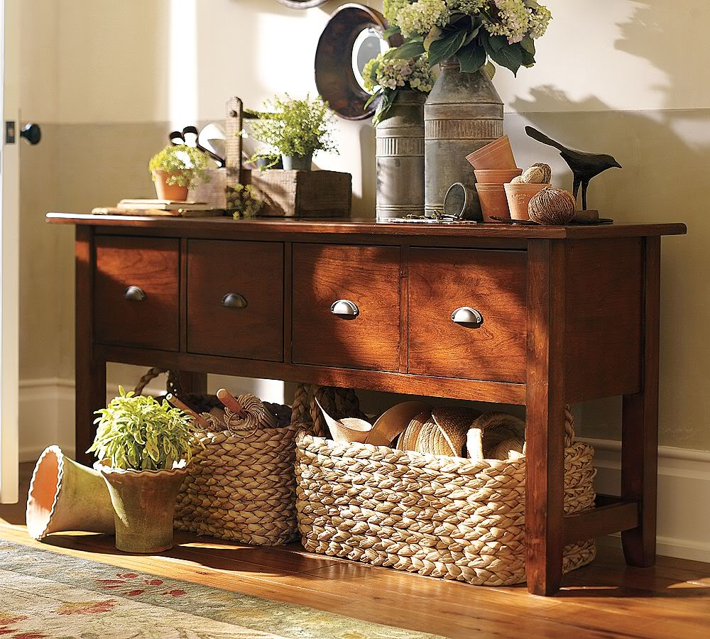 Image of: Entryway tables with storage
