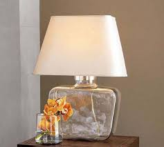 Image of: Glass Table Lamps Modern