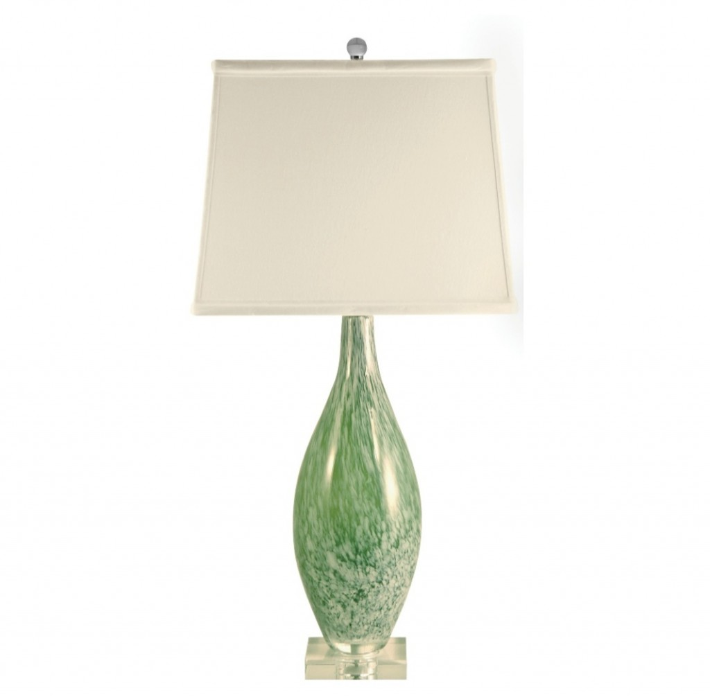 Image of: Green Glass Table Lamps