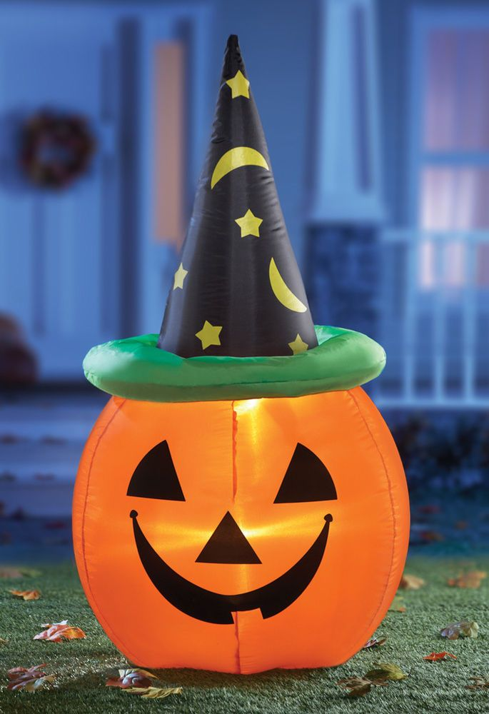 Image of: Inflatable Pumpkin Halloween Yard Decoration Outdoor Decorating Ideas