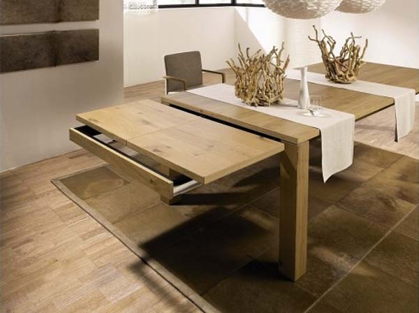 Image of: Latest expandable dining room table