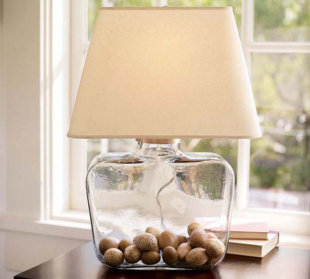 Image of: Modern Glass Table Lamps