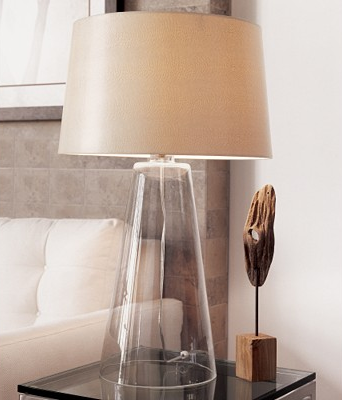 Image of: Picture Modern Glass Table Lamps