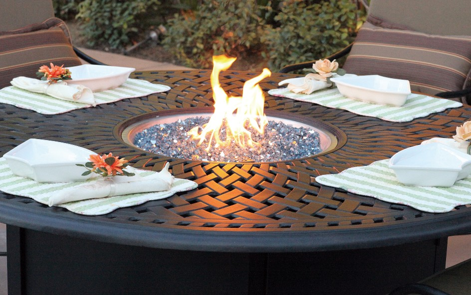 Picture of: Propane fire pit tables