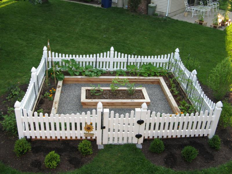 Picture of: Raised small vegetable garden layout