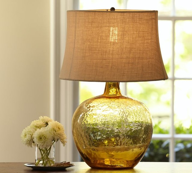 Image of: Traditional Glass Table Lamps