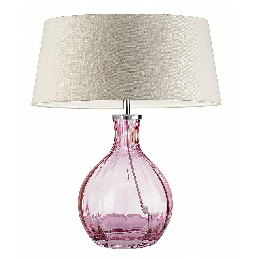Image of: Vintage Glass Table Lamps
