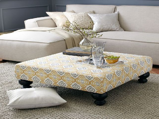 Image of: Vintage Upholstered Coffee Table