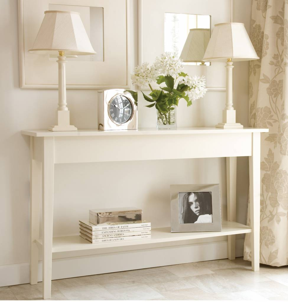Image of: White entryway tables