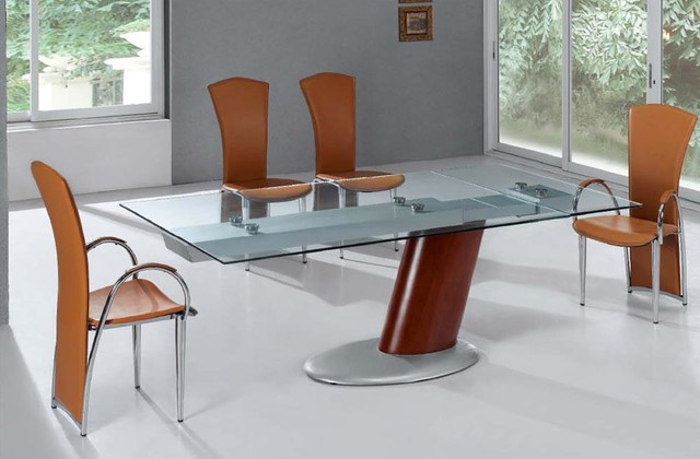 Image of: contemporary expandable dining room table