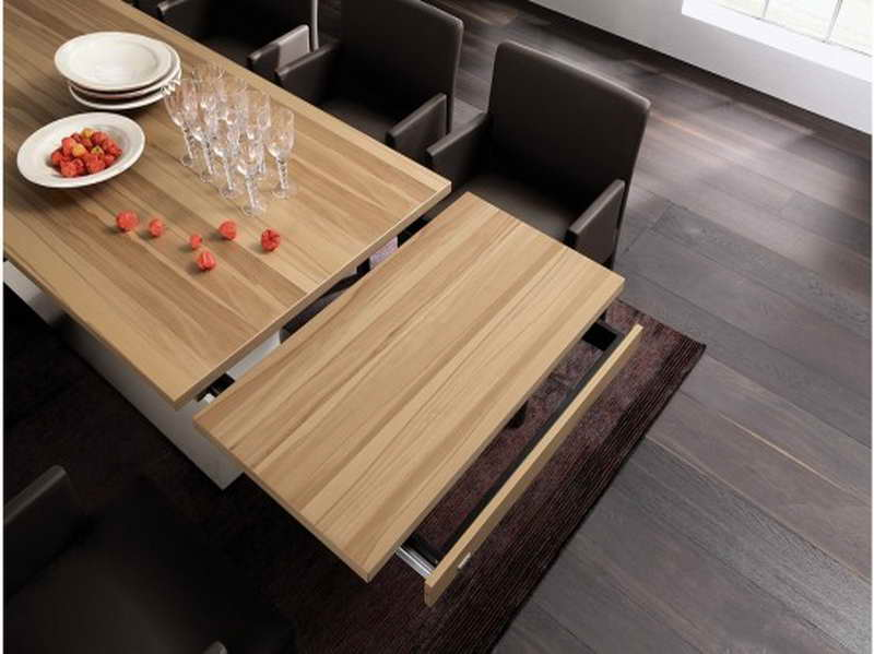 Image of: expandable dining room table space