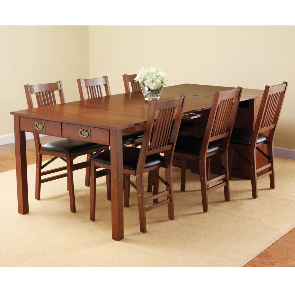 Image of: furniture expandable dining room table