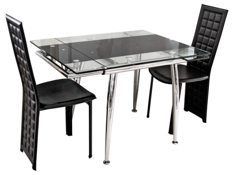 Image of: glass expandable dining room table ideas