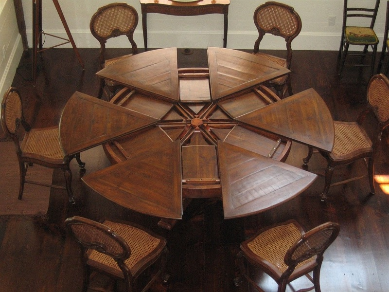 Image of: photo of expandable dining room table