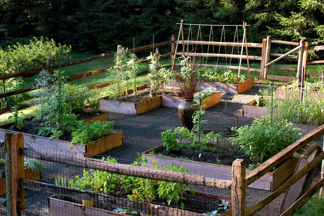 Picture of: traditional small vegetable garden layout