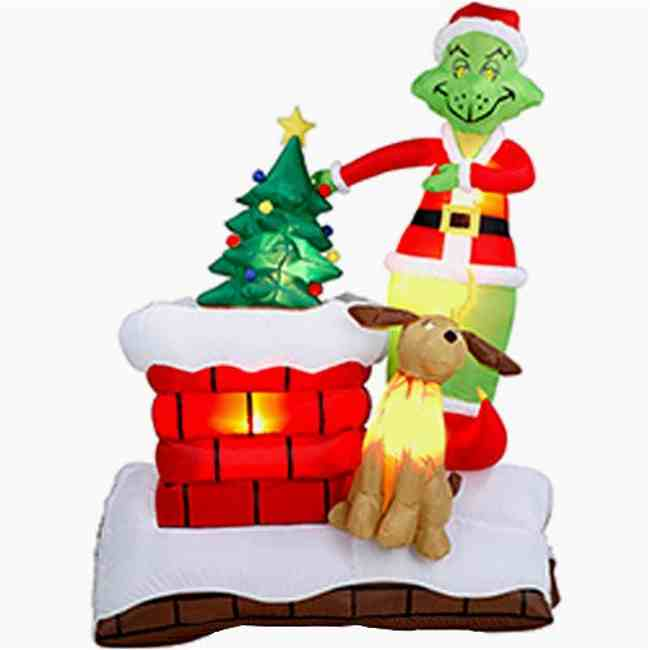 Image of: yard christmas decorations inflatables