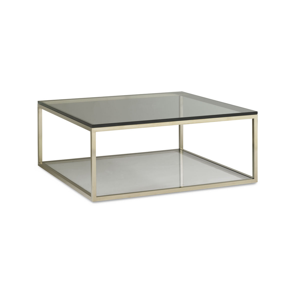 Image of: Argo Glass Square Coffee Table