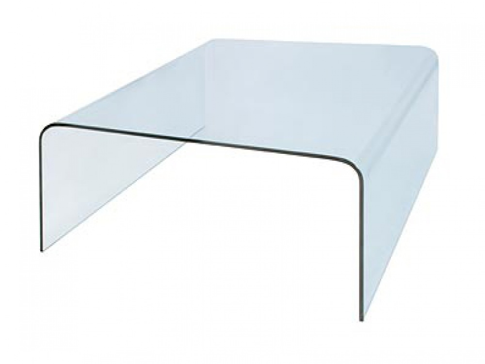 Picture of: Bent Glass Square Coffee Table