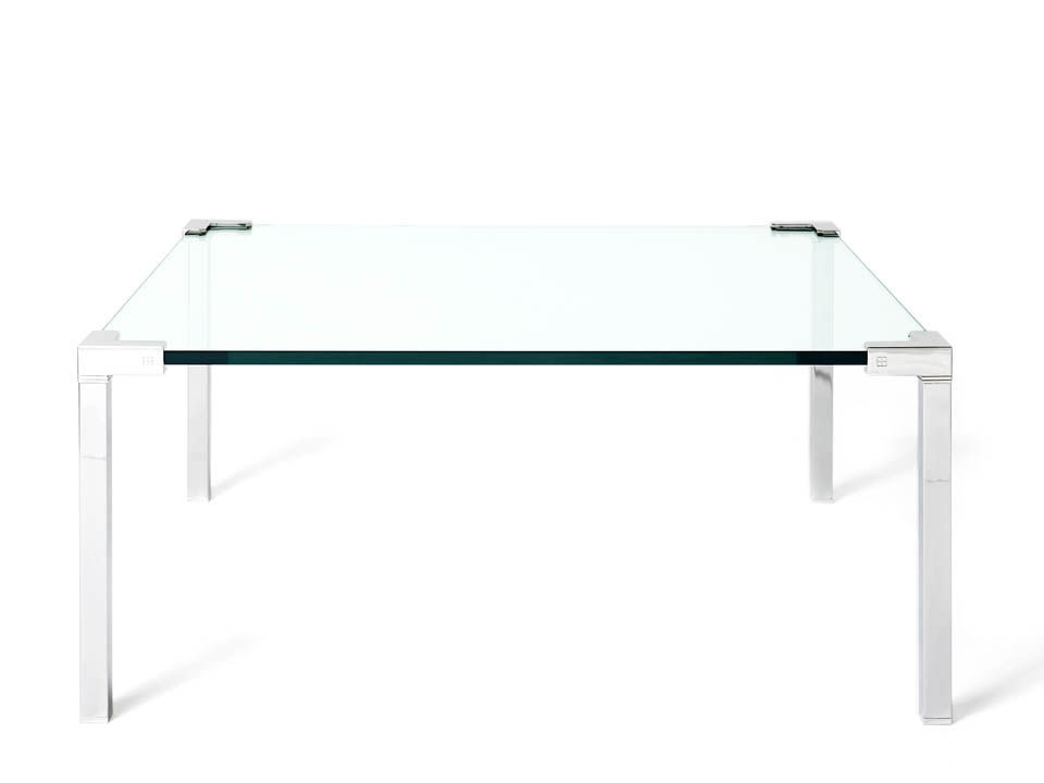 Image of: Contemporary Glass Square Coffee Table