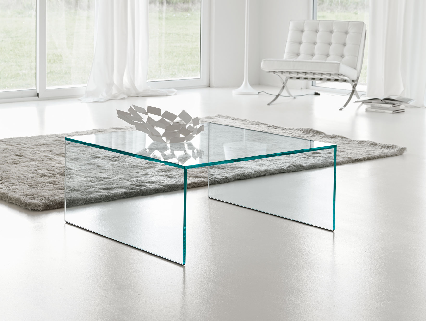 Image of: Glass Square Coffee Table Design