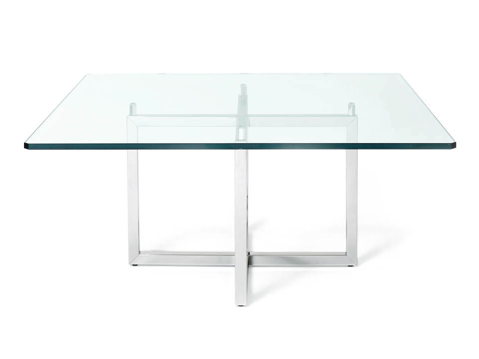 Picture of: Glass Square Coffee Table Metal