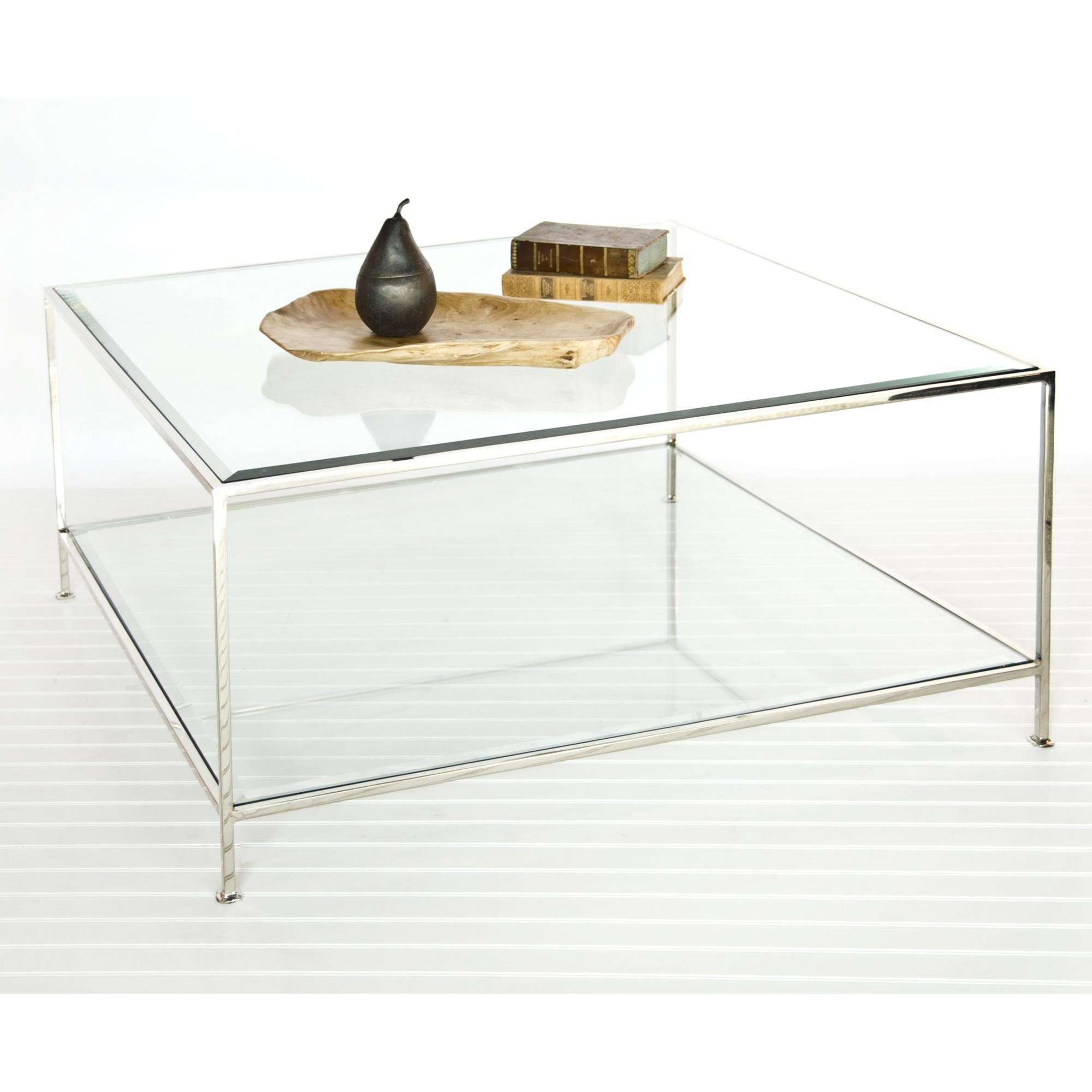 Image of: Glass Square Coffee Table