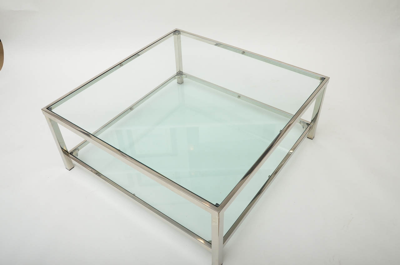 Picture of: Huntting Glass Square Coffee Table