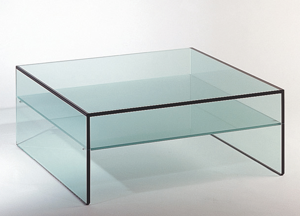 Picture of: Large Glass Square Coffee Table