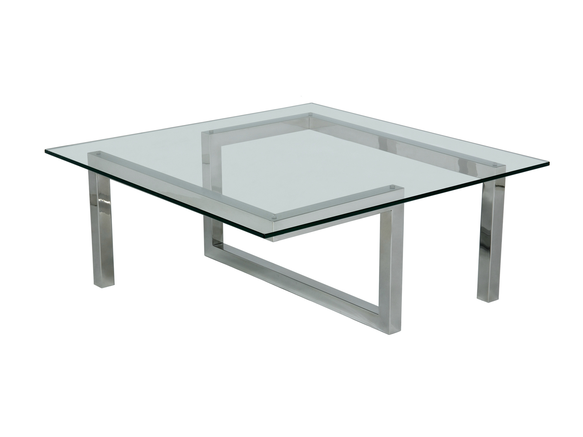 Picture of: Low Glass Square Coffee Table