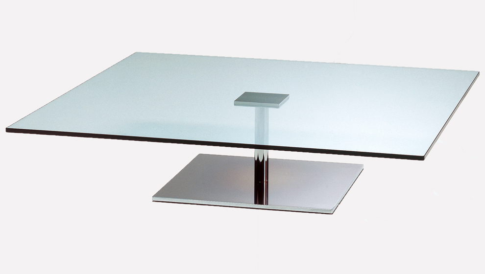 Toneli Glass Square Coffee Table