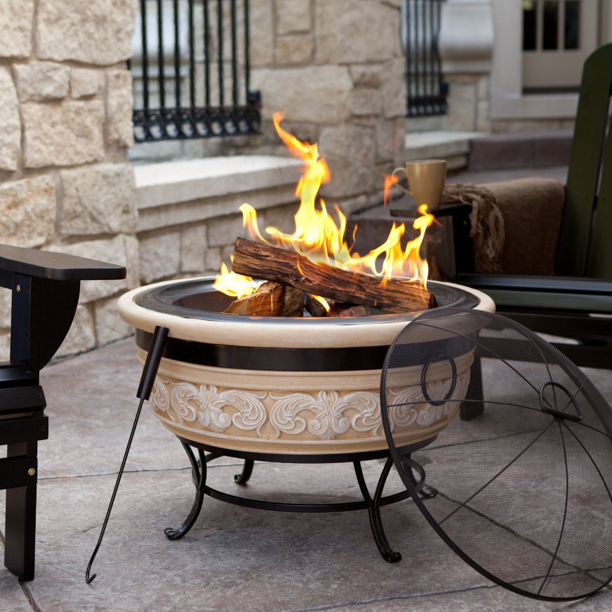 Image of: Portable Fire Pit Decoration