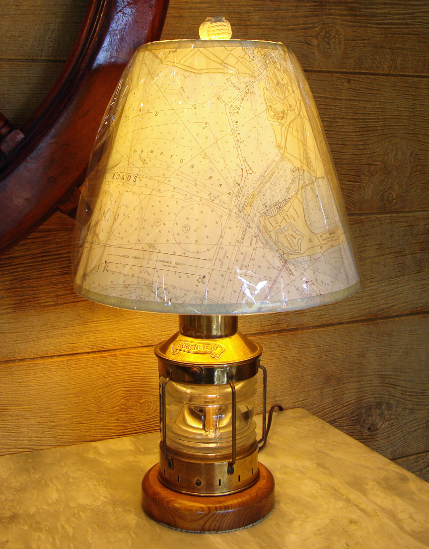 Picture of: Brass nautical table lamps