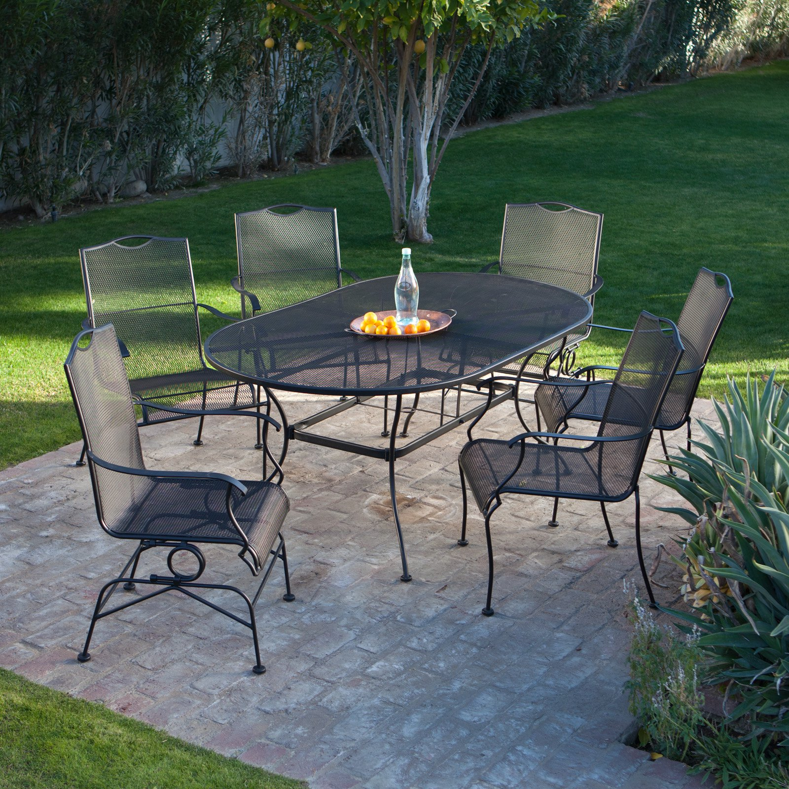 Image of: Cute wrought iron patio table