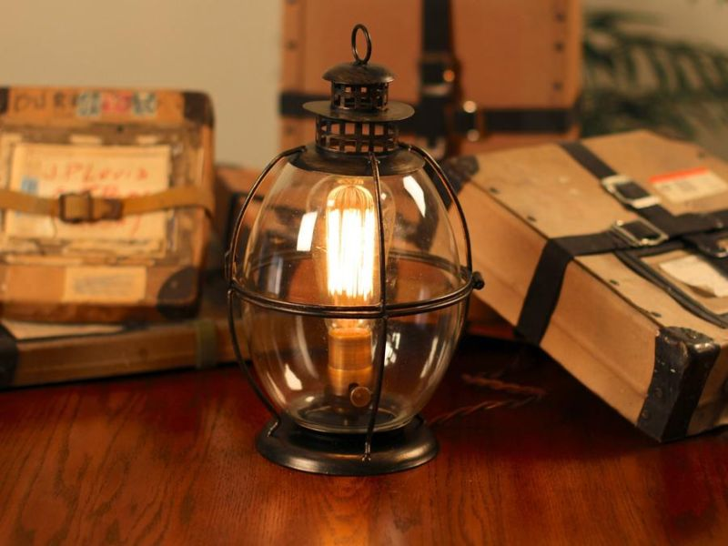 Image of: Image Lantern Table Lamp