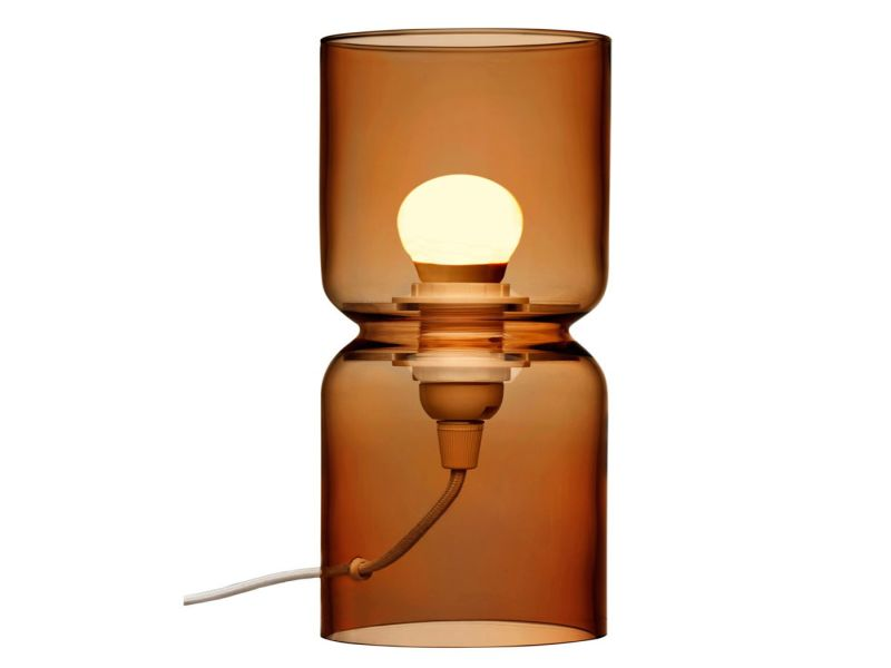 Image of: Lantern Table Lamp Copper
