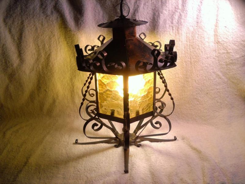 Image of: Lantern Table Lamp Glass