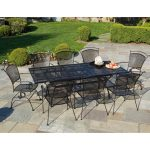 Large Wrought Iron Patio Table