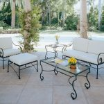 Wrought Iron Patio Table Lounge
