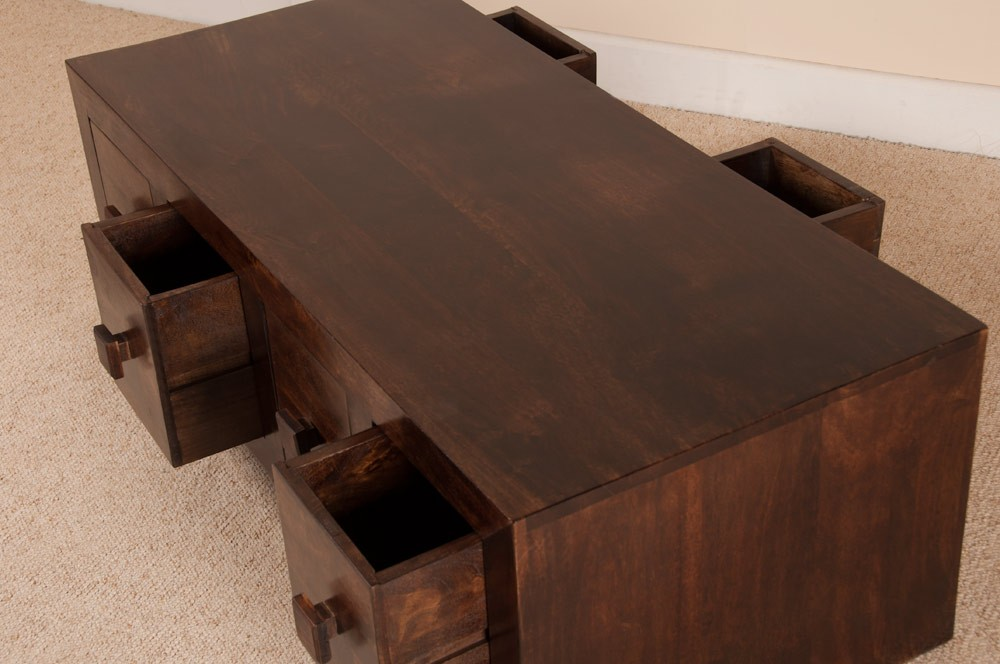 Image of: Mango Wood Coffee Table With Storage