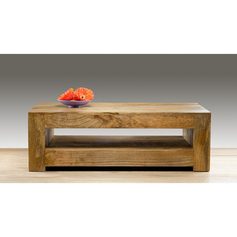 Image of: Mango Wood Dark Coffee Table