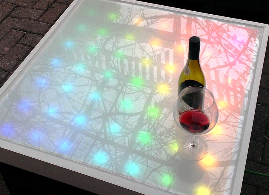 Picture of: Plexiglass Table Top Lighting