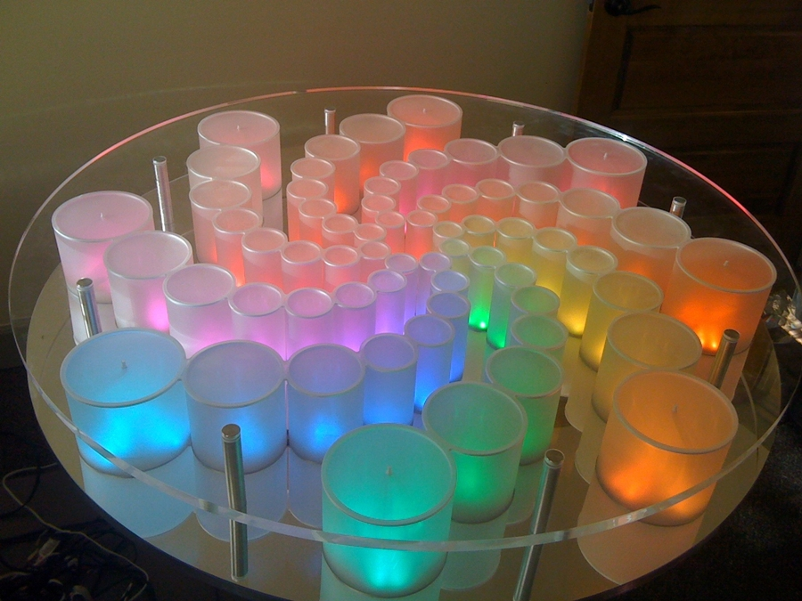 Image of: Plexiglass Table Top Round