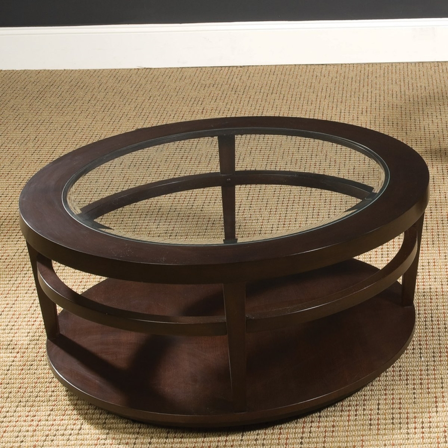Image of: Round Coffee Tables Glass Design